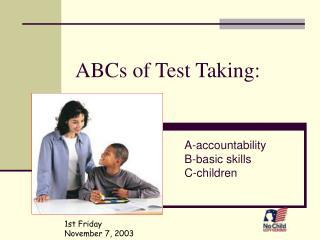 ABCs of Test Taking:
