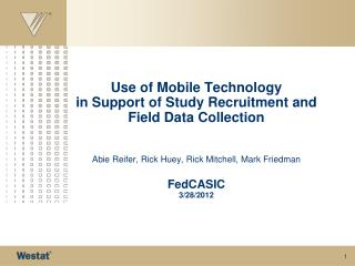 Mobile Landscape and Project Considerations  Westat Mobile Projects Project  Background