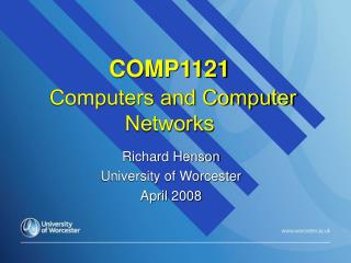 COMP1121  Computers and Computer Networks