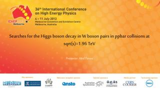 Searches for the Higgs boson decay  in W boson pairs in  ppbar  collisions at  sqrt (s)=1.96  TeV