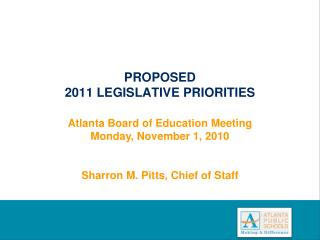 PROPOSED 2011 LEGISLATIVE PRIORITIES