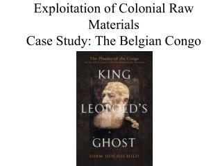 Exploitation of Colonial Raw Materials  Case Study: The Belgian Congo
