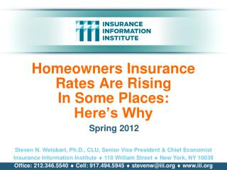 Homeowners Insurance Rates Are Rising  In Some Places: Here's Why