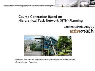 Course Generation Based on  Hierarchical Task Network (HTN) Planning