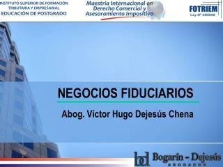 NEGOCIOS FIDUCIARIOS