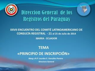 Dirección General  de los  Registros del Paraguay
