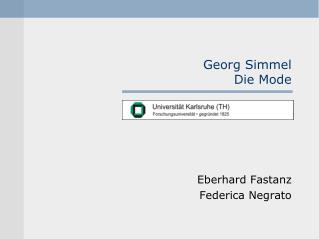 Georg Simmel Die Mode