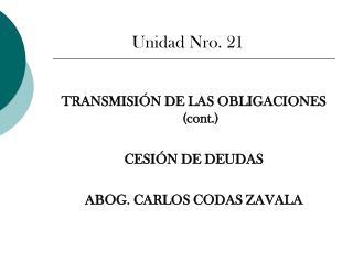 Unidad Nro. 21