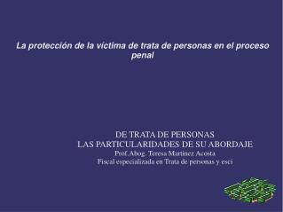 La protección de la víctima de trata de personas en el proceso penal
