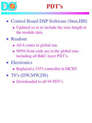 PDT's