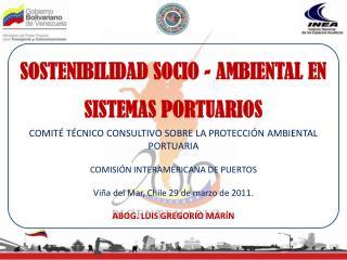 SOSTENIBILIDAD SOCIO - AMBIENTAL EN SISTEMAS PORTUARIOS
