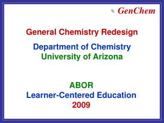 ABOR  Learner-Centered Education  2009