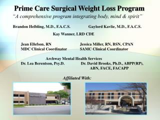 Prime Care Surgical Weight Loss Program