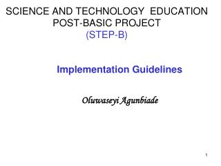 SCIENCE AND TECHNOLOGY  EDUCATION  POST-BASIC PROJECT                            STEP-B