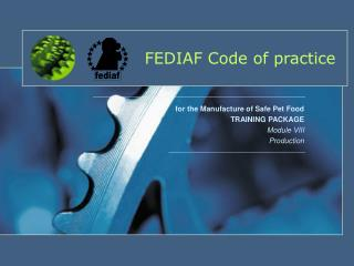 FEDIAF Code of practice