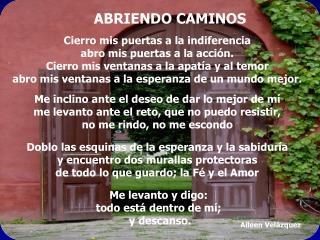 ABRIENDO CAMINOS