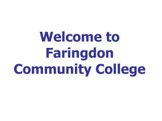 Welcome to Faringdon Community College