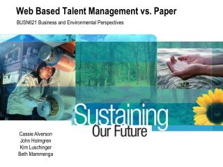 Web Based Talent Management vs. Paper