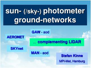 sun-  (/sky-)  photometer ground-networks