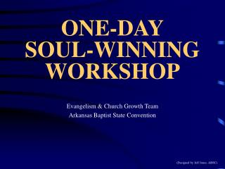 ONE-DAY SOUL-WINNING WORKSHOP