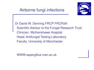 Airborne fungi infections