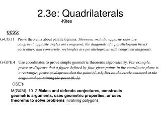 2.3e: Quadrilaterals