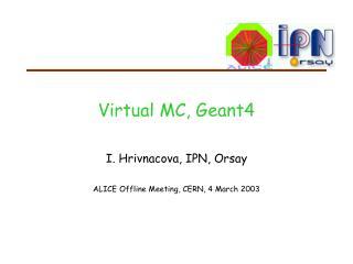 Virtual MC, Geant4