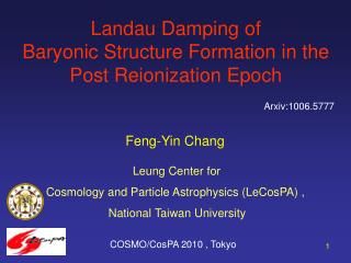 Landau Damping of  Baryonic Structure Formation in the Post Reionization Epoch