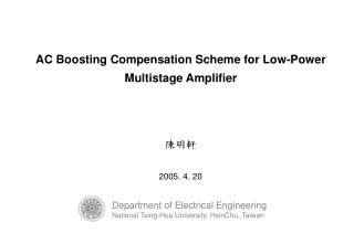 AC Boosting Compensation Scheme for Low-Power Multistage Amplifier