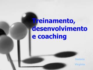 Treinamento, desenvolvimento e coaching
