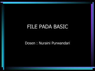 FILE PADA BASIC
