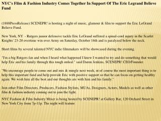 NYC's Film & Fashion Industry Comes Together In Support Of T