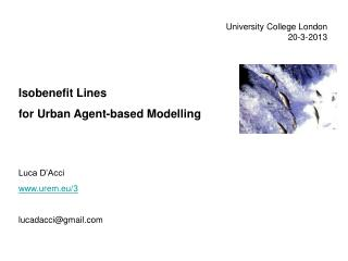 University College London 20-3-2013