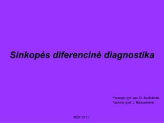 Sinkopės diferencinė diagnostika