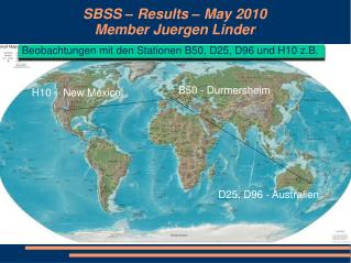 SBSS – Results – May 2010 Member Juergen Linder