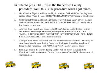 CDL Information