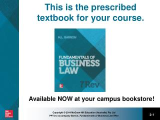 This is the prescribed textbook for your course.