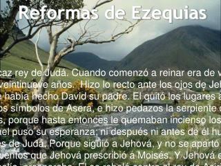 Reformas  de  Ezequias