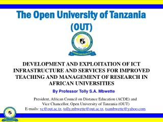 The Open University of Tanzania  (OUT)