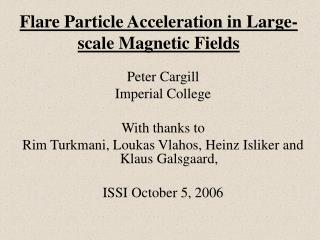 Flare Particle Acceleration in Large-scale Magnetic Fields
