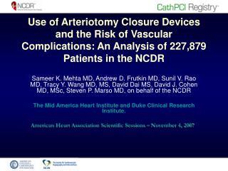 American Heart Association Scientific Sessions – November 4, 2007