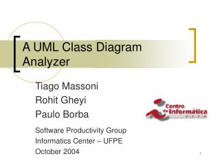 A UML Class Diagram Analyzer