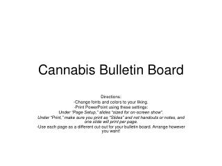 Cannabis Bulletin Board
