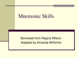 Mnemonic Skills