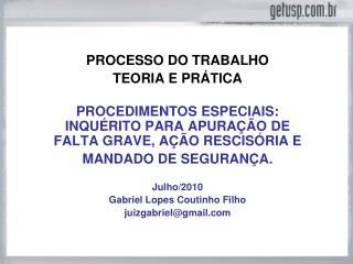 PROCESSO DO TRABALHO TEORIA E PRÁTICA