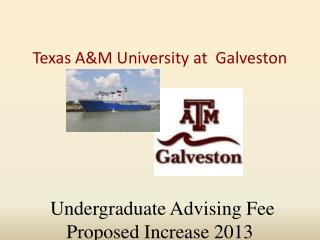 Undergraduate Advising Fee Proposed Increase 2013