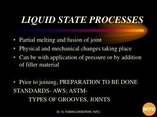 LIQUID STATE PROCESSES