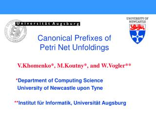 * Department of Computing Science University of Newcastle upon Tyne