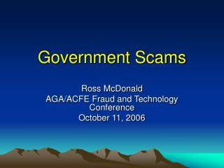 Government Scams
