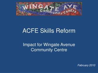ACFE Skills Reform